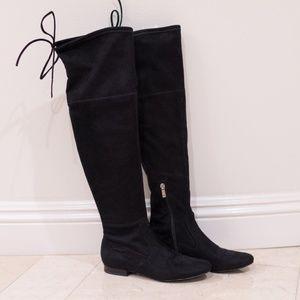 Ivanka Trump Suede Over the Knee Boots